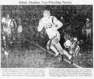 The_Bristol_Daily_Courier_Sat__Sep_10__1960_Harry Schuh in Bishop Egan game